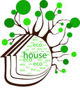 Eco house Royalty Free Stock Photography
