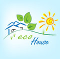 Eco house background this is file of eps format Royalty Free Stock Photography