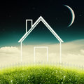 Eco house concept abstract environmental backgrounds Stock Image