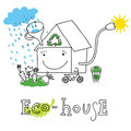 Eco house,  drawing Stock Photography