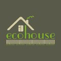 Eco house eco friendly natural materials dark background Stock Photography