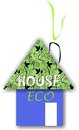 Eco house future our world our children Stock Photos