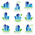 Eco house symbols of construction Royalty Free Stock Photo