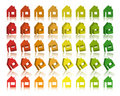 Eco houses 3D Vector Stock Image