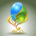 Eco-icon Stock Photo
