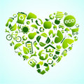 Eco icon heart Royalty Free Stock Photography