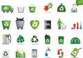 Eco icon set Royalty Free Stock Photo