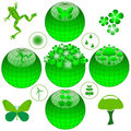 Eco icon set Royalty Free Stock Images
