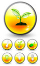 Eco icons Stock Images