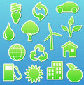 Eco icons Stock Photos