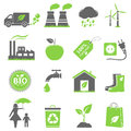 Eco icons ecology isolated on white background Stock Images