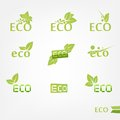 Eco icons this is file of eps format Stock Images