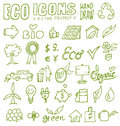Eco icons hand draw project Royalty Free Stock Photo