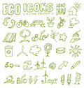 Eco icons hand draw project Royalty Free Stock Photography