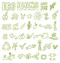 Eco icons hand draw project Royalty Free Stock Images