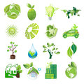 Eco icons logic idea icon set illustration Stock Photos