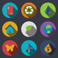 Eco icons modern flat vector illustration Royalty Free Stock Images