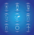 Eco icons over blue background vector illustration Royalty Free Stock Image
