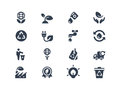 Eco icons set of environmental and Stock Images