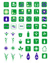 Eco icons set of isolated on white background Stock Image
