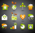Eco icons vector set of Stock Photography