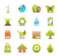 Eco icons vector set of Royalty Free Stock Photography