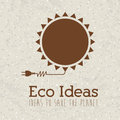 Eco ideas over pattern background vector illustration Royalty Free Stock Photos