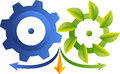 Eco industrial logo Royalty Free Stock Photo
