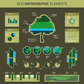 Eco Infographic Elements Stock Images