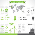 Eco infographic elements. Stock Photos