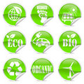 Eco label and sticker Royalty Free Stock Image
