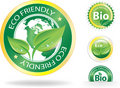Eco Labels Royalty Free Stock Photography