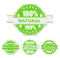 Eco Labels Stock Photography