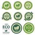 Eco labels. Royalty Free Stock Image