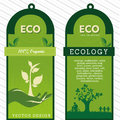 Eco labels over grunge background vector illustration Royalty Free Stock Photos