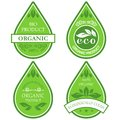 Eco labels set of four Royalty Free Stock Image