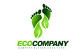 Eco Leaves Logo Royalty Free Stock Photo