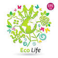 Eco Life, green planet Royalty Free Stock Photo