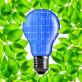 Eco light bulb from solar panel. Royalty Free Stock Photo