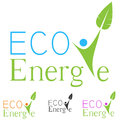 Eco logo ecology green energy abstract concept Stock Images