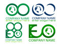 Eco logos illustration of save earth logo design isolated on white background Royalty Free Stock Photos