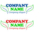 Eco logos new logo on a white background Royalty Free Stock Photo