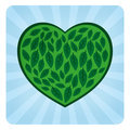Eco Love Symbol Royalty Free Stock Photography