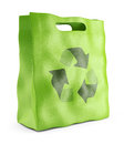 Eco market bag environmental conservation concept d icon Royalty Free Stock Photography