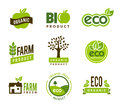Eco organic icons collection of green Stock Photography