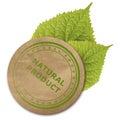 Eco paper sticker Royalty Free Stock Photo