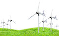 Eco power, wind turbines generating electricity Royalty Free Stock Photo