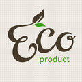 Eco product lettering Royalty Free Stock Images