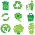 Eco & Recycle icons Royalty Free Stock Photography
