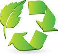 Eco recycle logo illustration art of a with isolated background Royalty Free Stock Photography